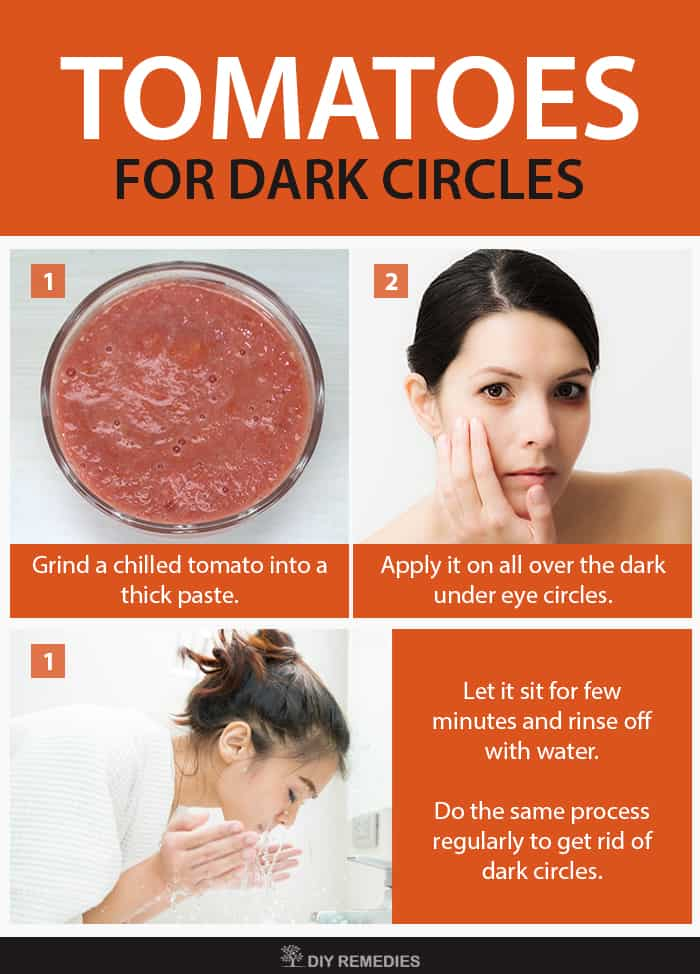 Tomatoes Remedies for Dark Circles