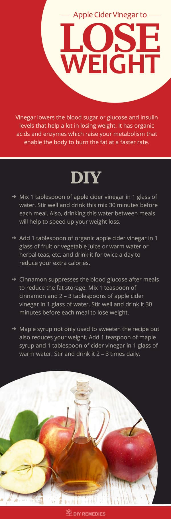 Apple cinnamon vinegar weight loss