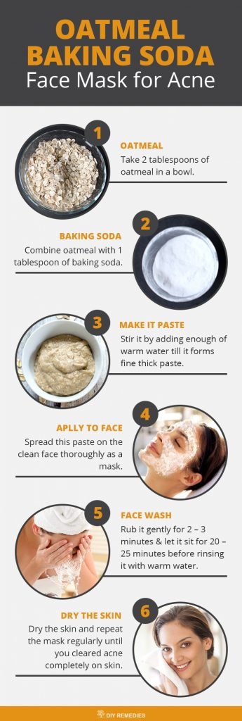 Oatmeal – Baking Soda Face Masks for Acne
