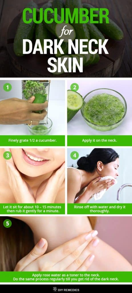 Cucumber Remedies for Dark Neck