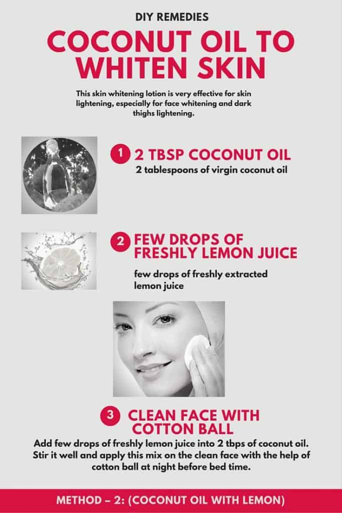 Coconut Oil to Whiten Skin