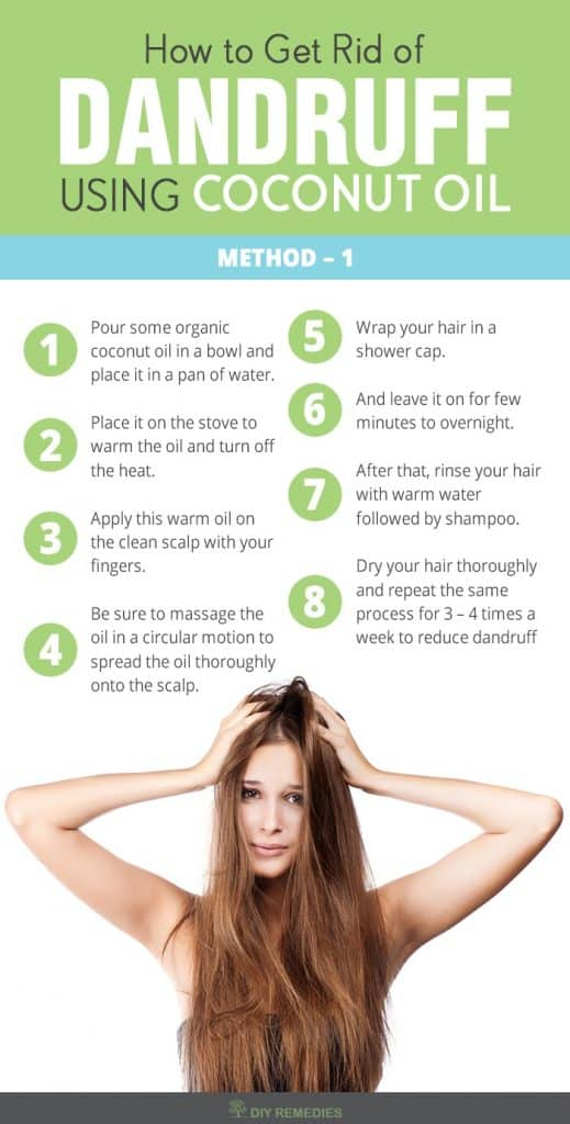 How to Get Rid of Dandruff using Coconut Oil