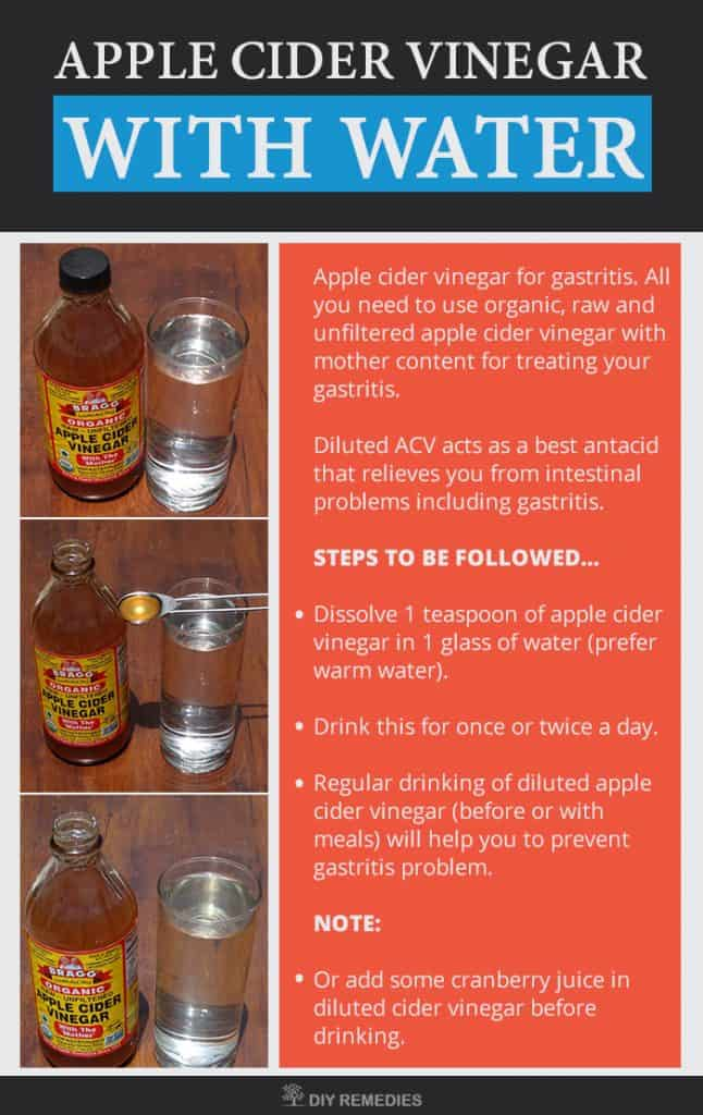 Apple Cider Vinegar for Curing Gastritis