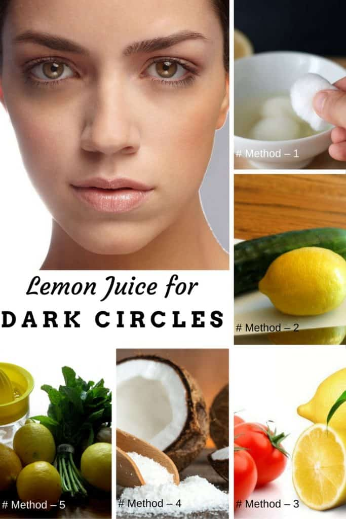 Lemon Juice for Dark Circles