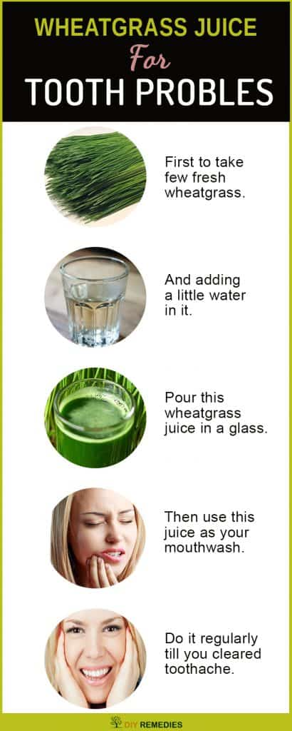 Wheatgrass Juice Remedies for Toothache