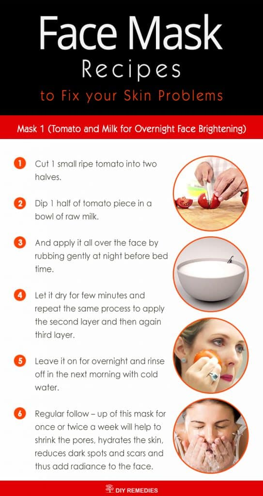 Tomato and Milk for Overnight Face Brightening