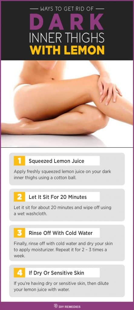 Lemon Remedies to Lighten your Dark Inner Thighs