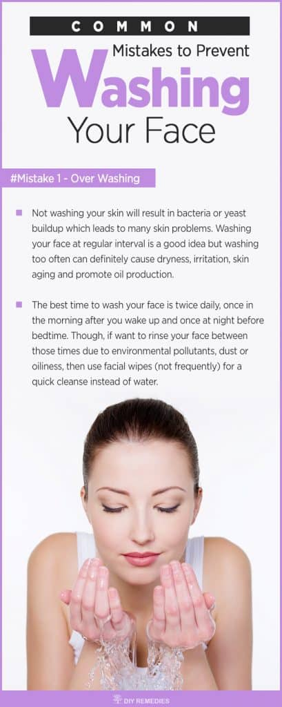 Common Mistakes to Prevent While Washing Your Face