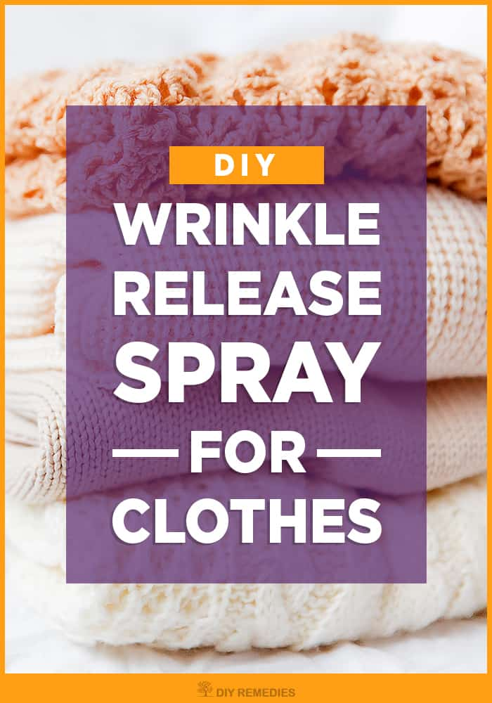 DIY Wrinkle Release Spray for Clothes