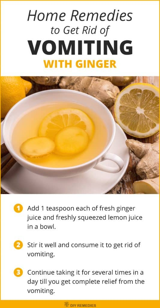 Ginger Remedies to Get Rid of Vomiting