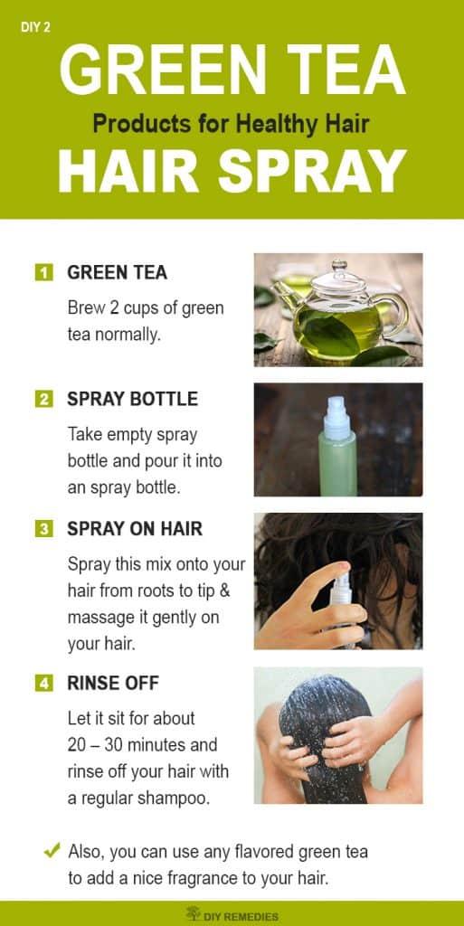 Green tea hair spray for Healthy Hair