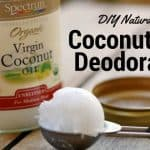DIY Natural Coconut Oil Deodorant