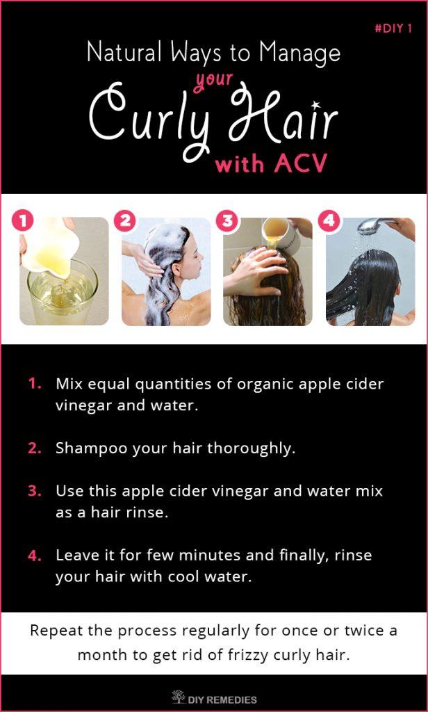 Apple Cider Vinegar Remedies for Managing Curly Hair