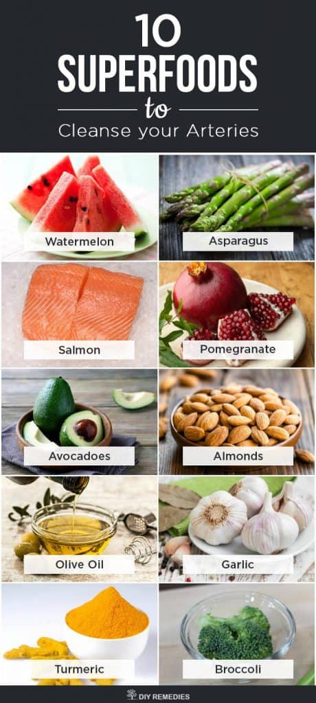 10 Best Superfoods to Cleanse your Arteries
