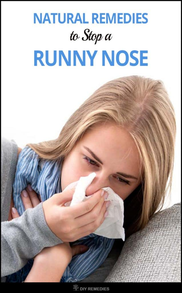 Natural Remedies to Stop a Runny Nose
