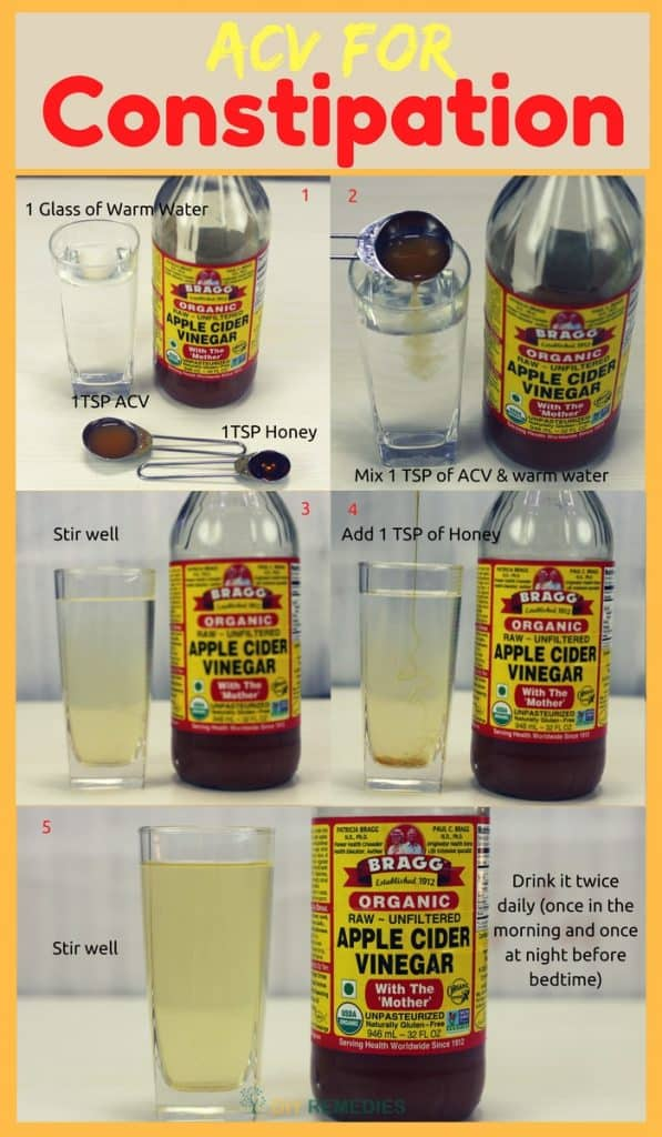 DIY ACV For Constipation