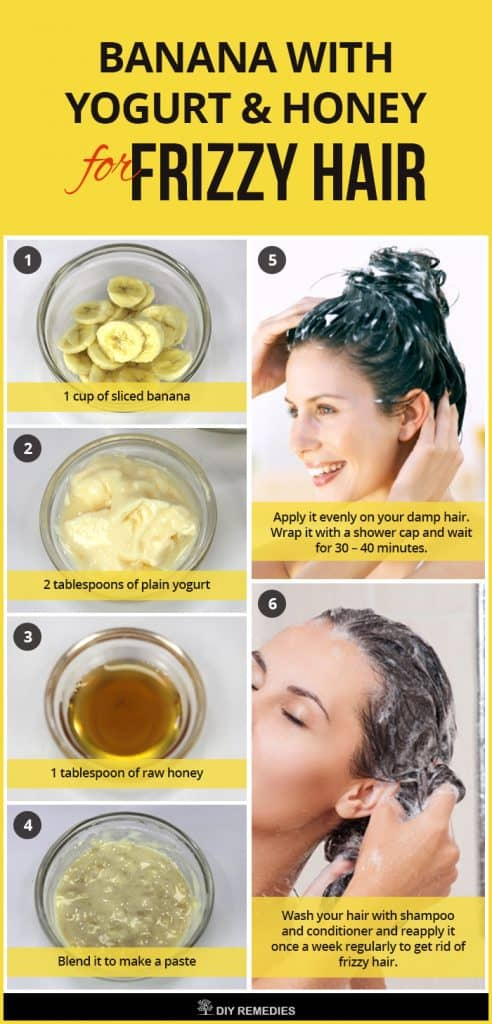 Banana with Yogurt and Honey for Frizzy Hair