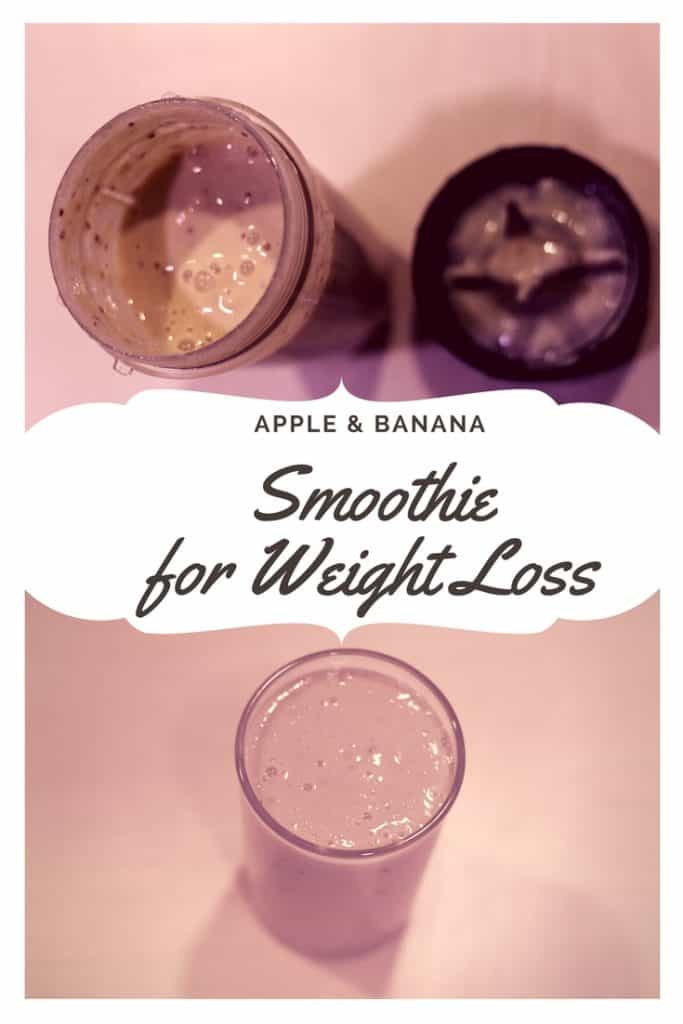 Apple Banana Smoothie for Weight Loss