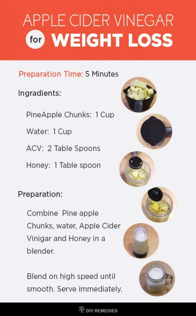 Apple Cider Vinegar Pineapple Smoothie for Weight Loss