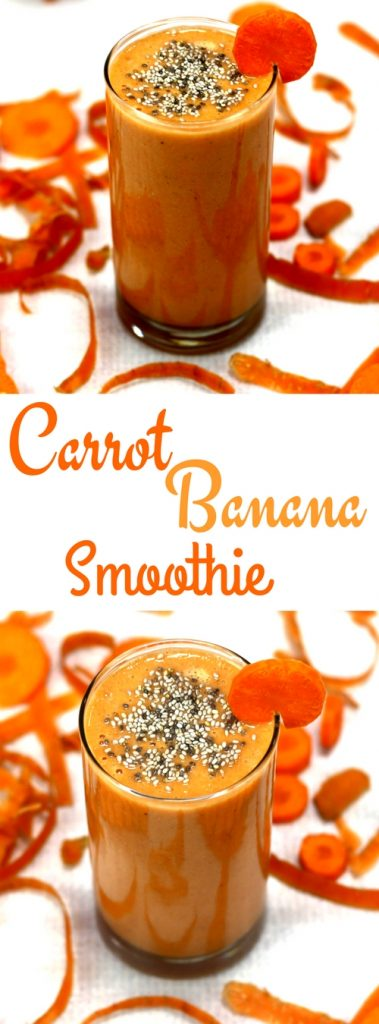 Carrot Banana Smoothie for Glowing Skin