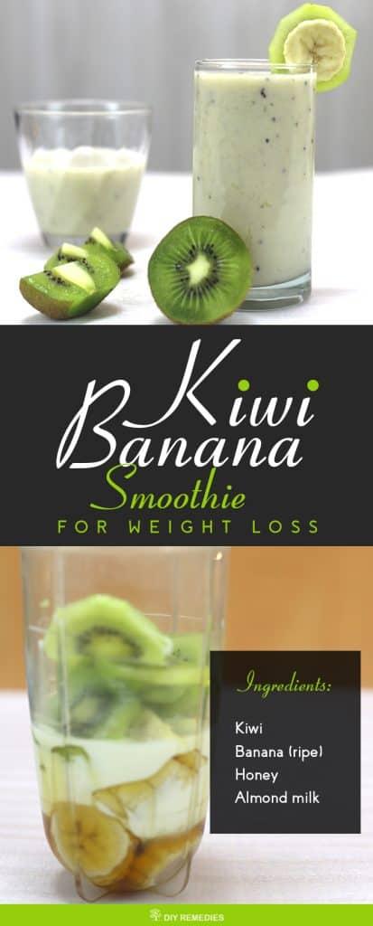 Kiwi Banana Smoothie for Weight Loss
