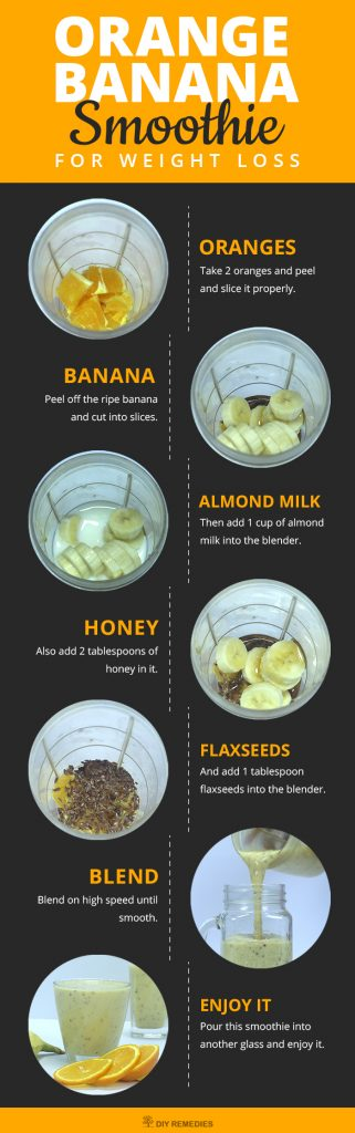 Orange Banana Smoothie for Weight Loss