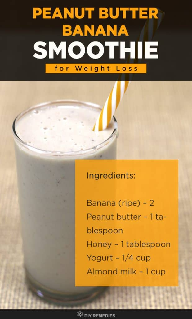Peanut Butter Banana Smoothie for Weight Loss