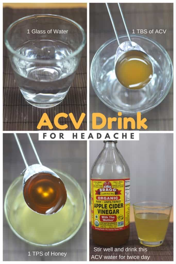 Apple Cider Vinegar Drink For Headache