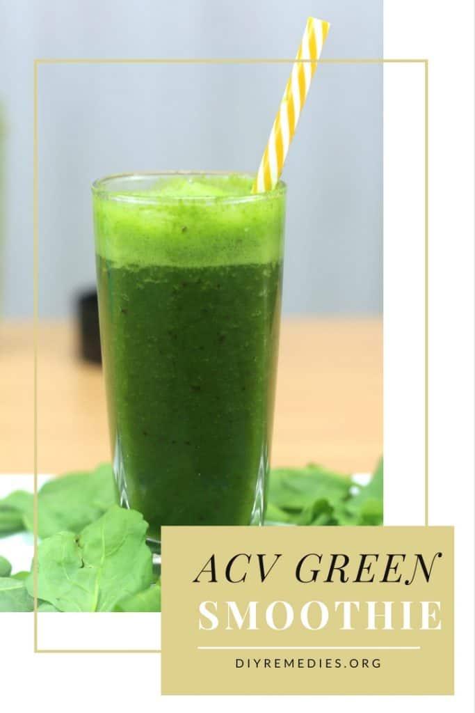 Apple Cider Vinegar Green smoothie