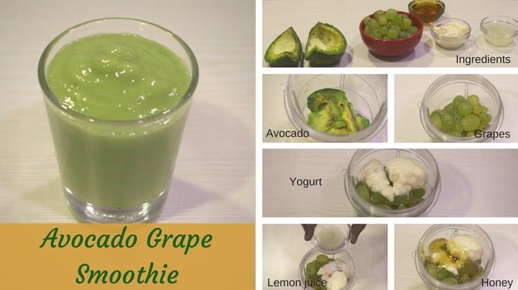 Avocado Grape Smoothie