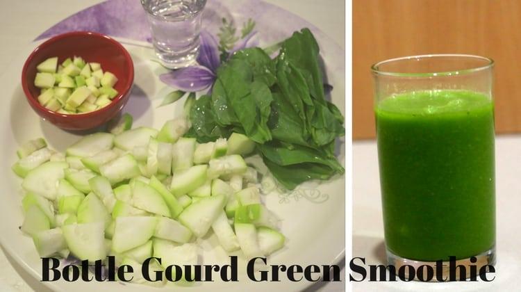 Bottle Gourd Green Smoothie