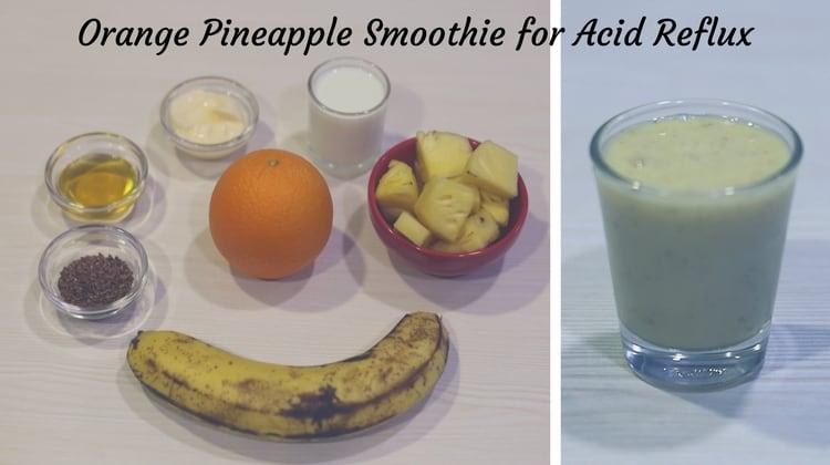 orange pineapple smoothie for acid reflux