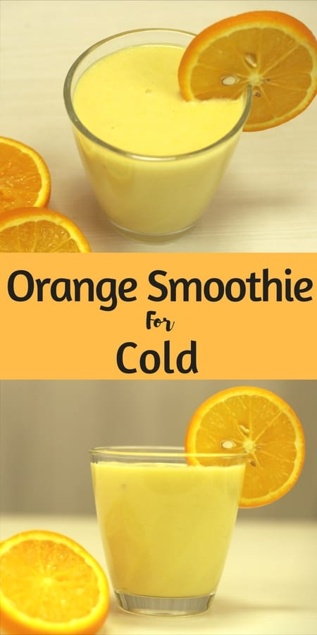 Orange Smoothie for Cold