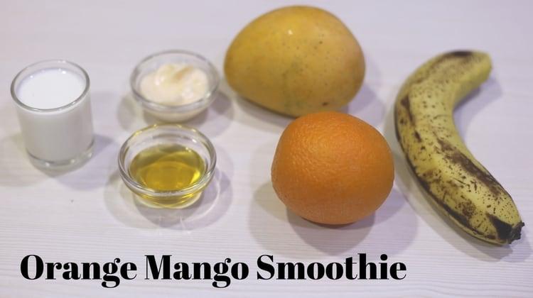 the combination of orange mango banana and yogurt in this smoothie ...