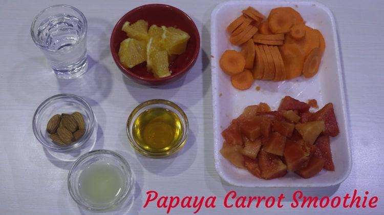 Papaya Carrot Smoothie