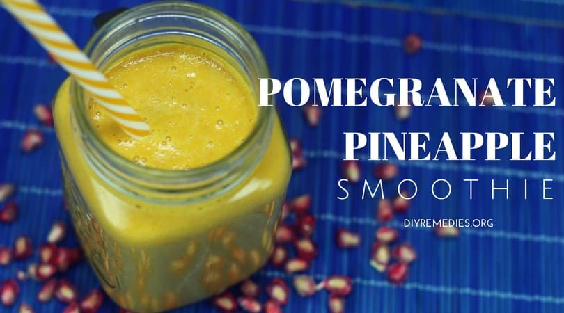 Pomegranate pineapple smoothie fb