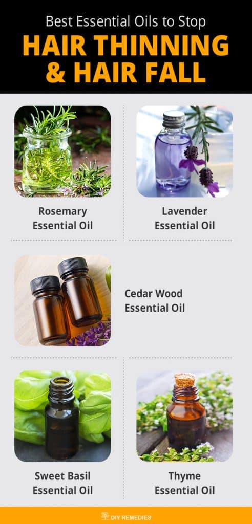 Best Essential Oils to Stop Hair Thinning and Hair Fall