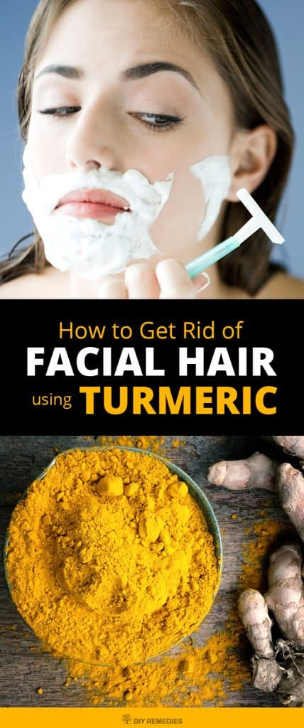 How to Get Rid of Facial Hair using Turmeric