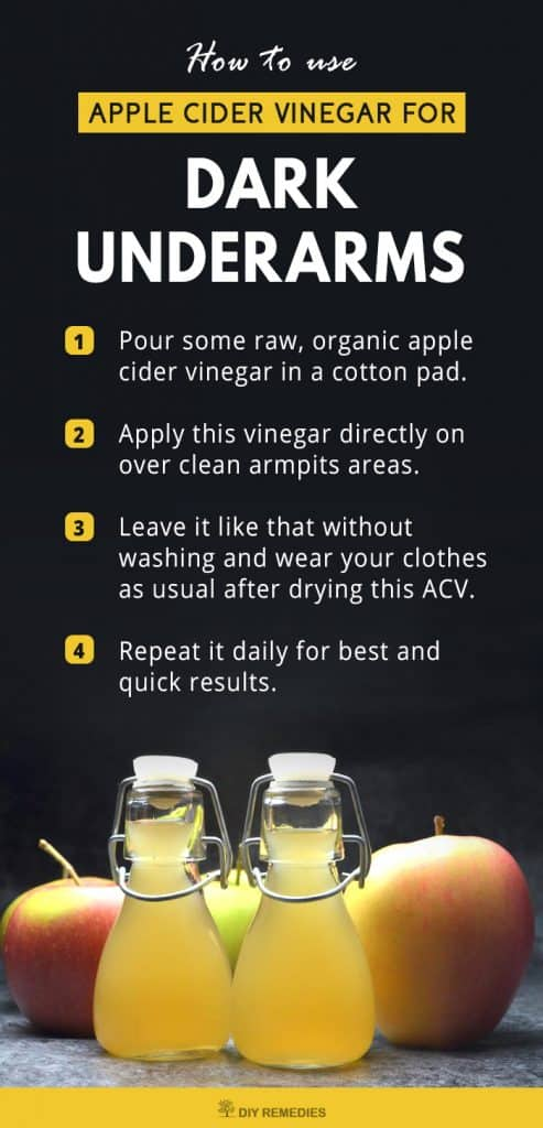Apple Cider Vinegar for Dark Underarms