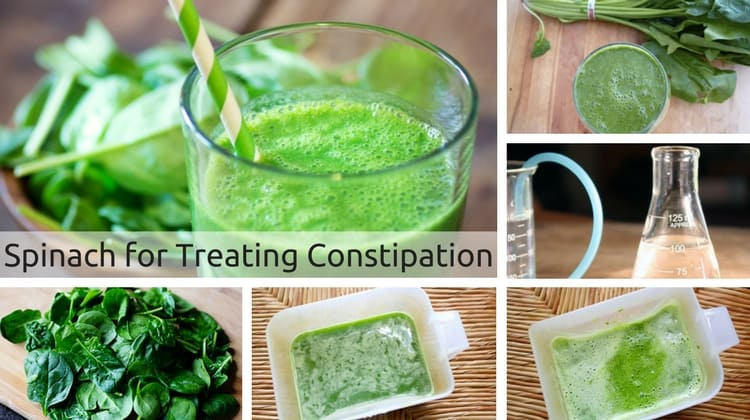 How to Treat Constipation using Spinach