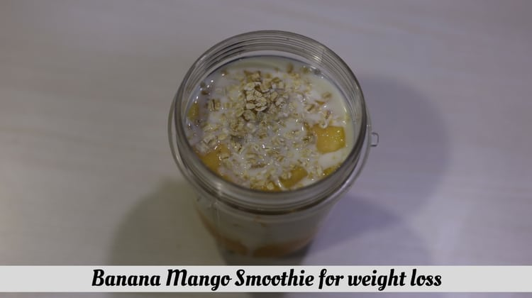 Banana Mango Smoothie for weight loss