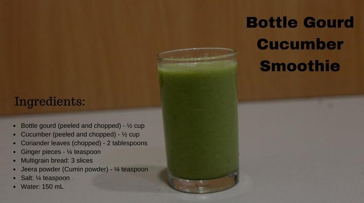 Bottle Gourd Cucumber Smoothie
