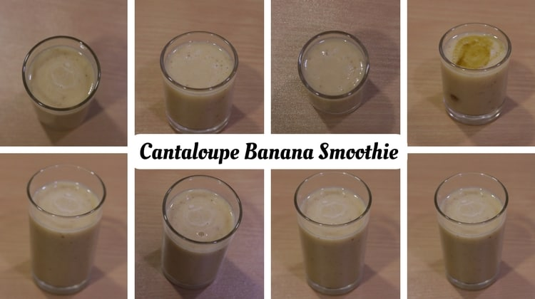 Cantaloupe Banana Smoothie