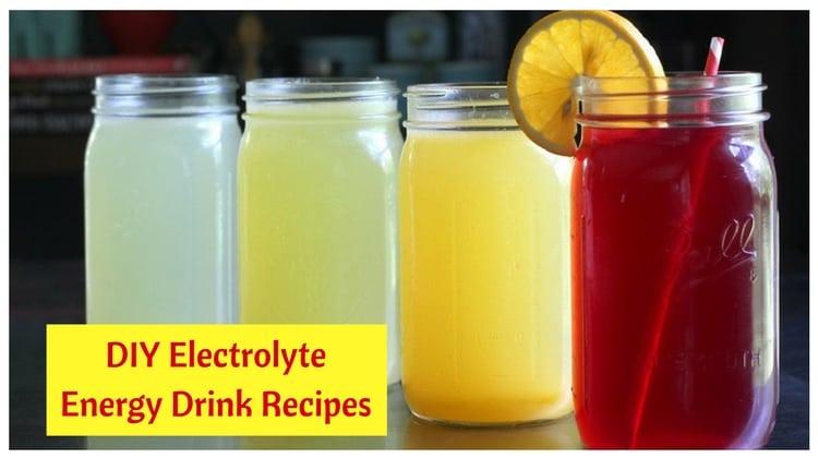 DIY Electrolyte Energy Drink Recipes