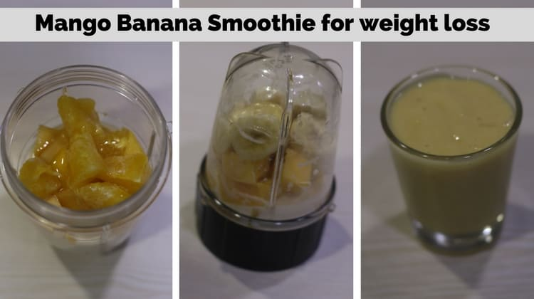 Mango Banana Smoothie for weight loss