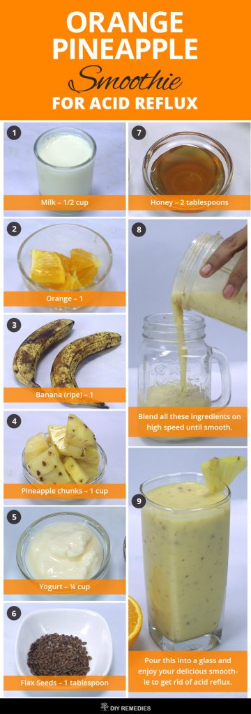 Orange Pineapple Smoothie for Acid Reflux