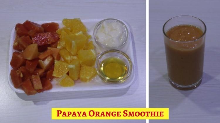 Papaya Orange Smoothie