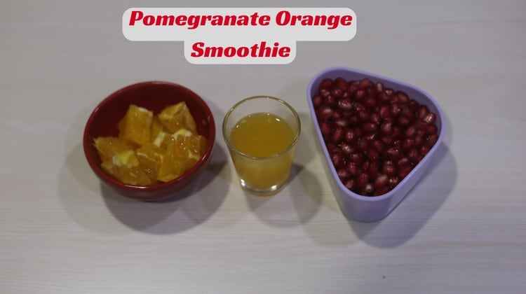 Pomegranate Orange Smoothie