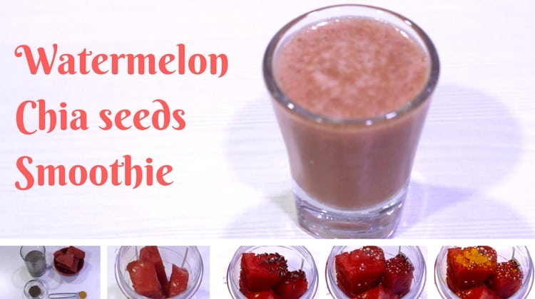 Watermelon Chia Seeds Smoothie