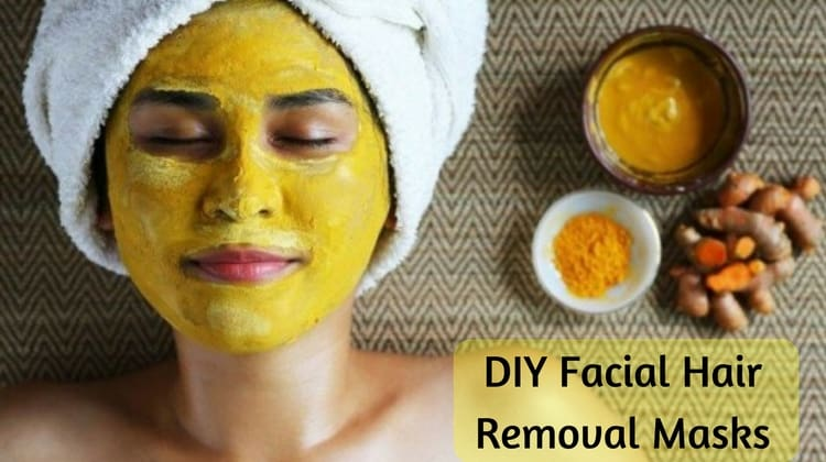 DIY Facial Hair Removal Masks